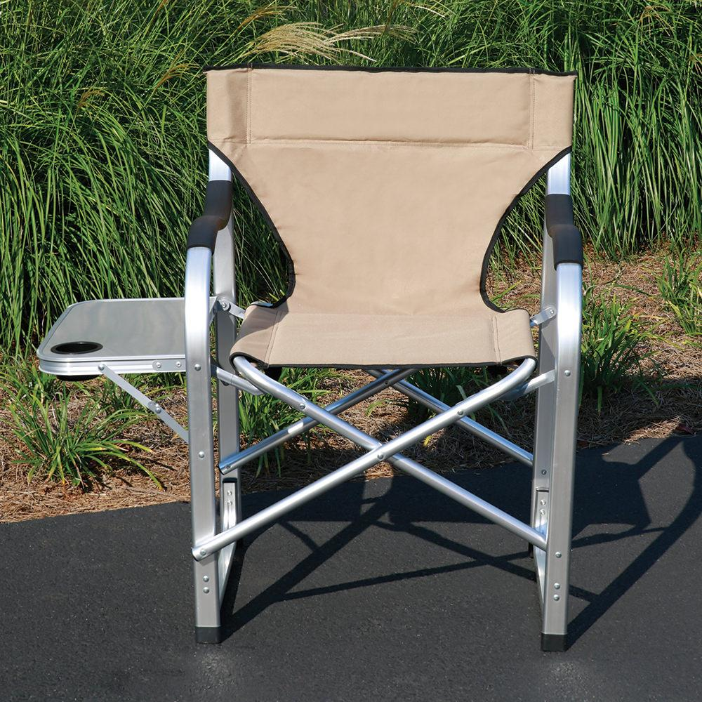 outdoor director chair. Aluminum Extra Large Directors Chair, Tan Outdoor Director Chair
