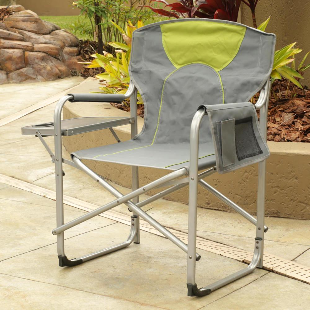 12 people when using folding chairs 12 people should fit comfortably -  Directors Chair With Side Table