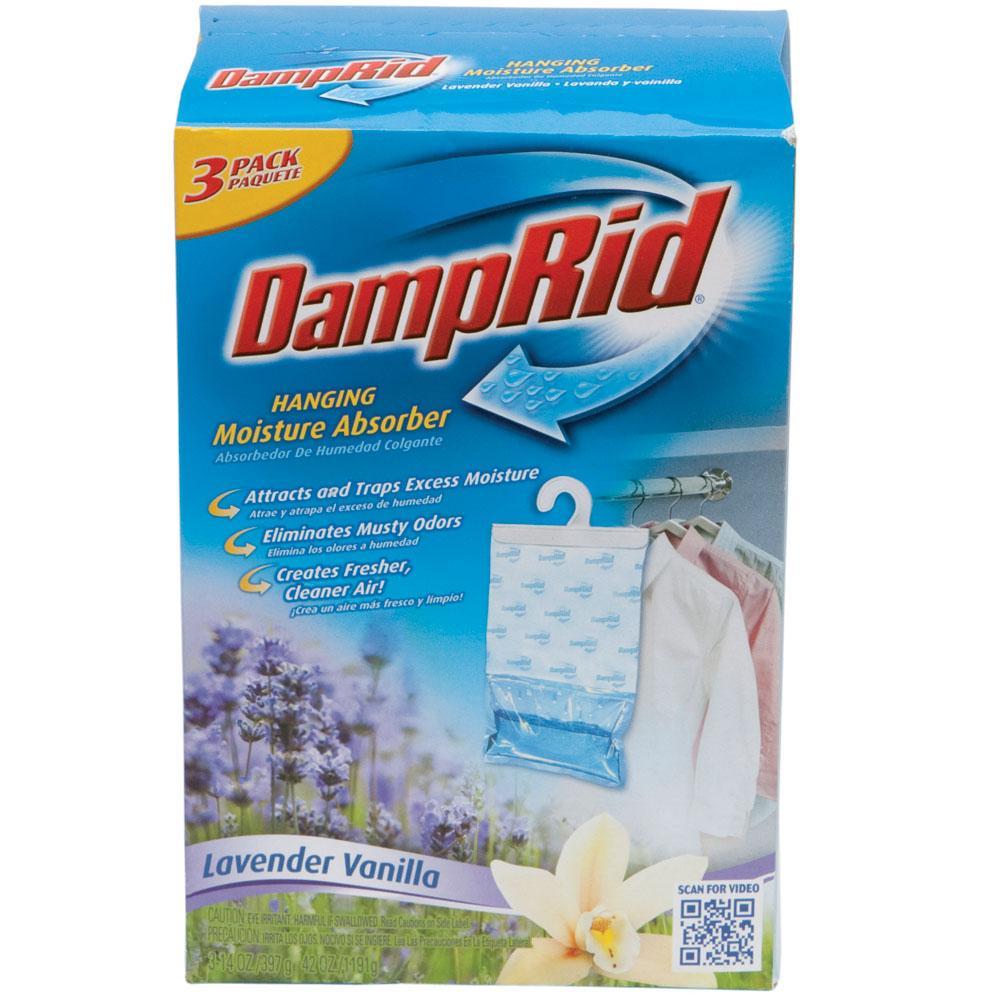 damprid hanging moisture absorber 3 pack lavender vanilla damp rid