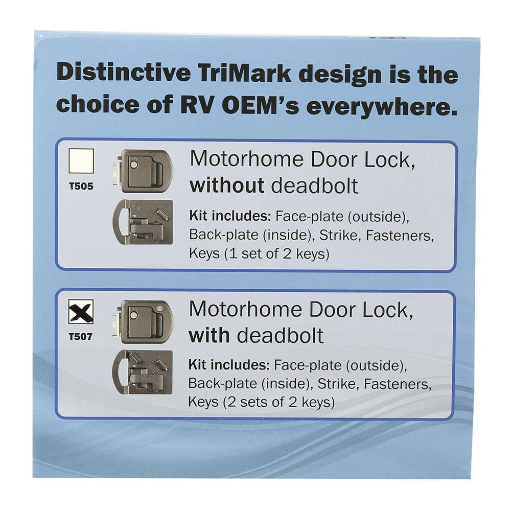 Entrance Door Lock With Deadbolt - RV Designer T507 - Entry Door ...