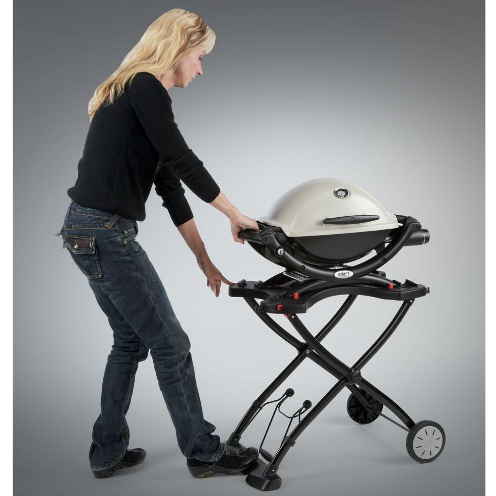 weber q portable cart weber 6557 grill accessories camping world. Black Bedroom Furniture Sets. Home Design Ideas