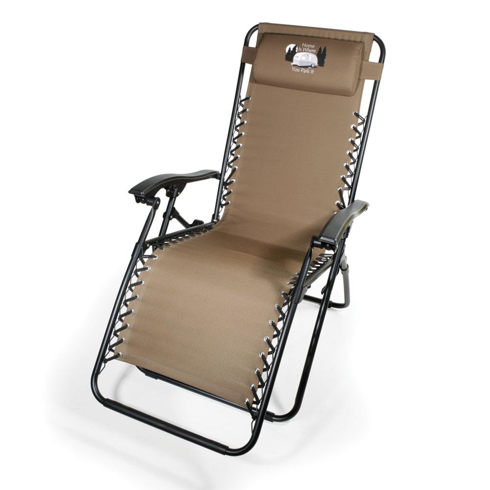 home is where you park it zero gravity recliner tan - Zero Gravity Chair