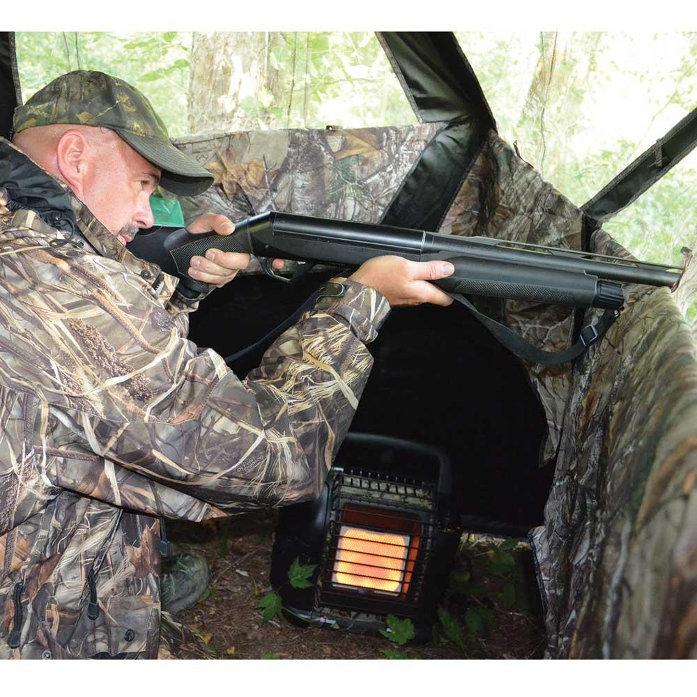 blind com x cherryland deer bonafeed hunting heaters photo cooperative of electric heater for blinds