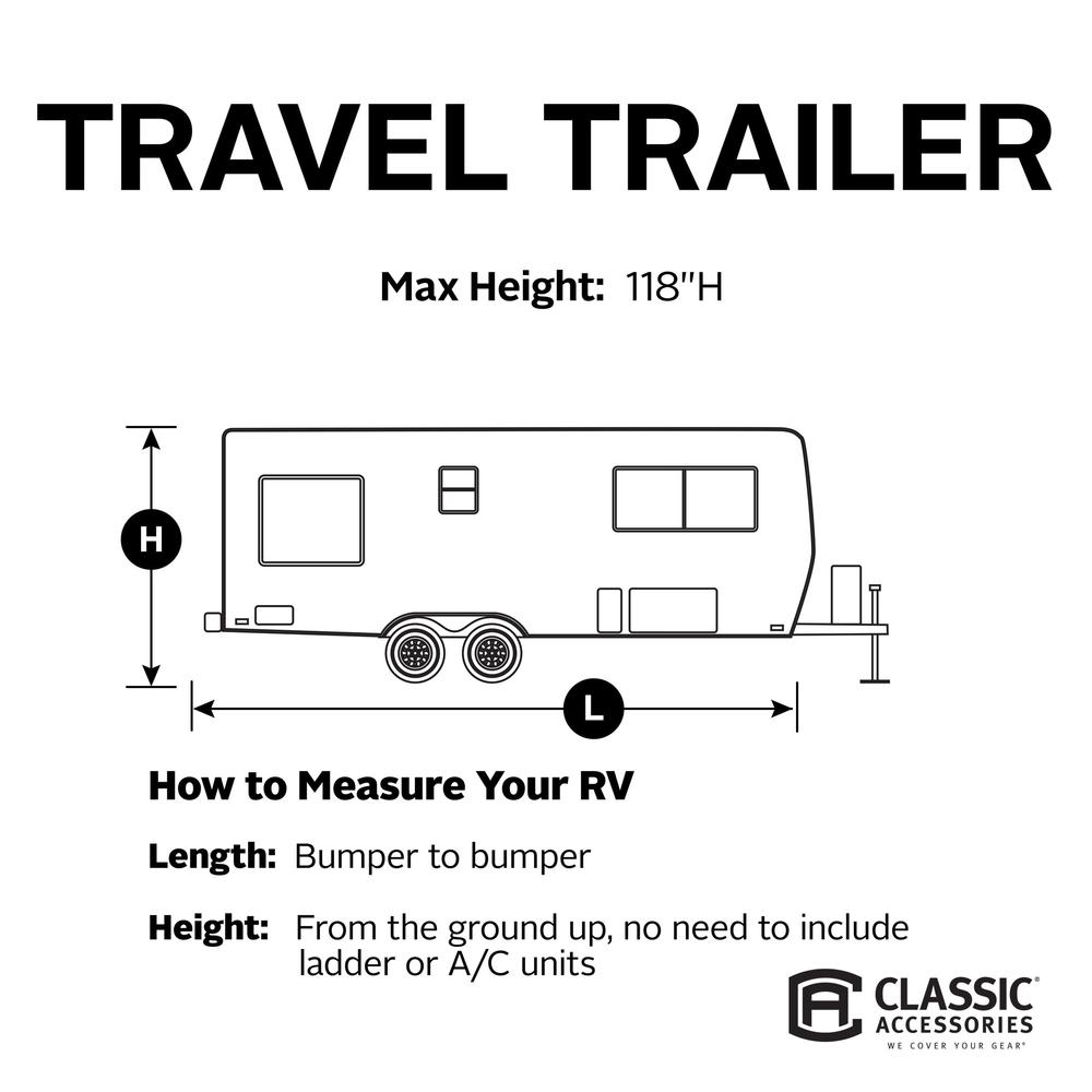 Classic Accessories 80-137-171001-00 Overdrive PermaPro Heavy Duty Cover 24 to 27 Travel Trailers