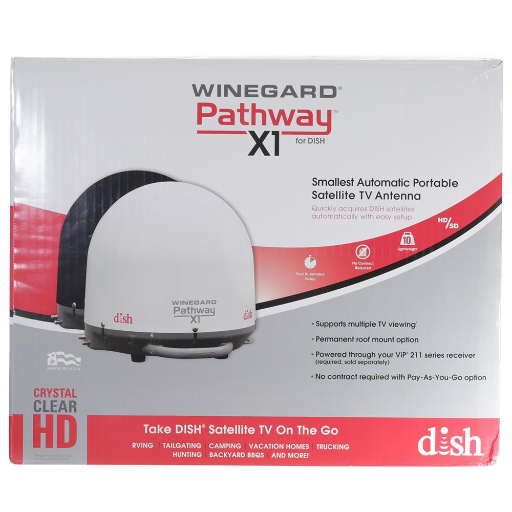 Winegard Pathway X1 Portable Satellite Antenna White