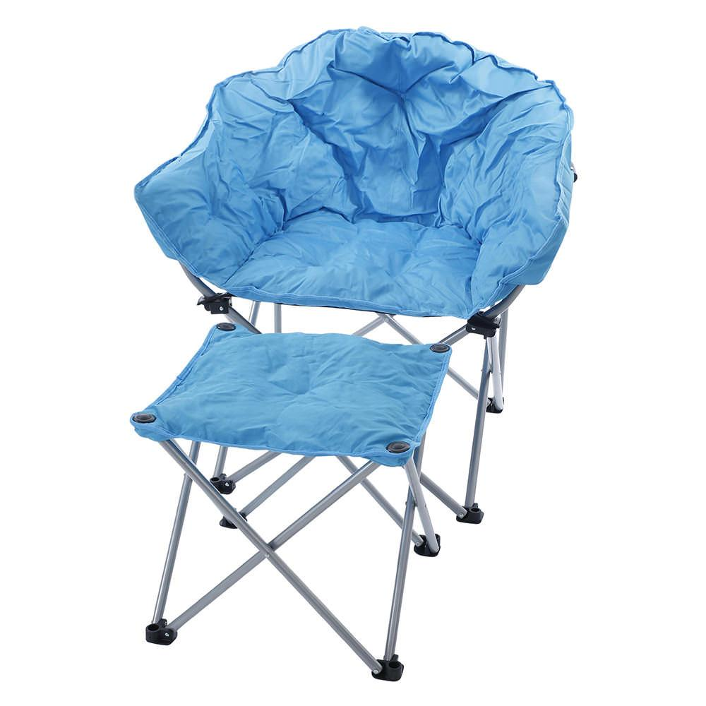 blue ottoman  mac sports roo  chair accessories  camping world -  blue ottoman