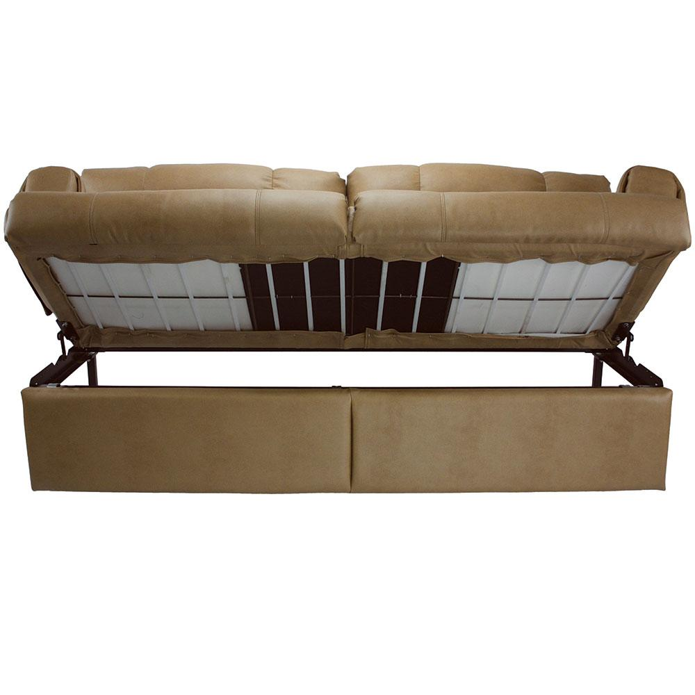 Jack-Knife Sofa with Arms, Legs and Kickboard, Grand Slam Storm, 68u0026quot;-70u0026quot; - Mobile Outfitters ...