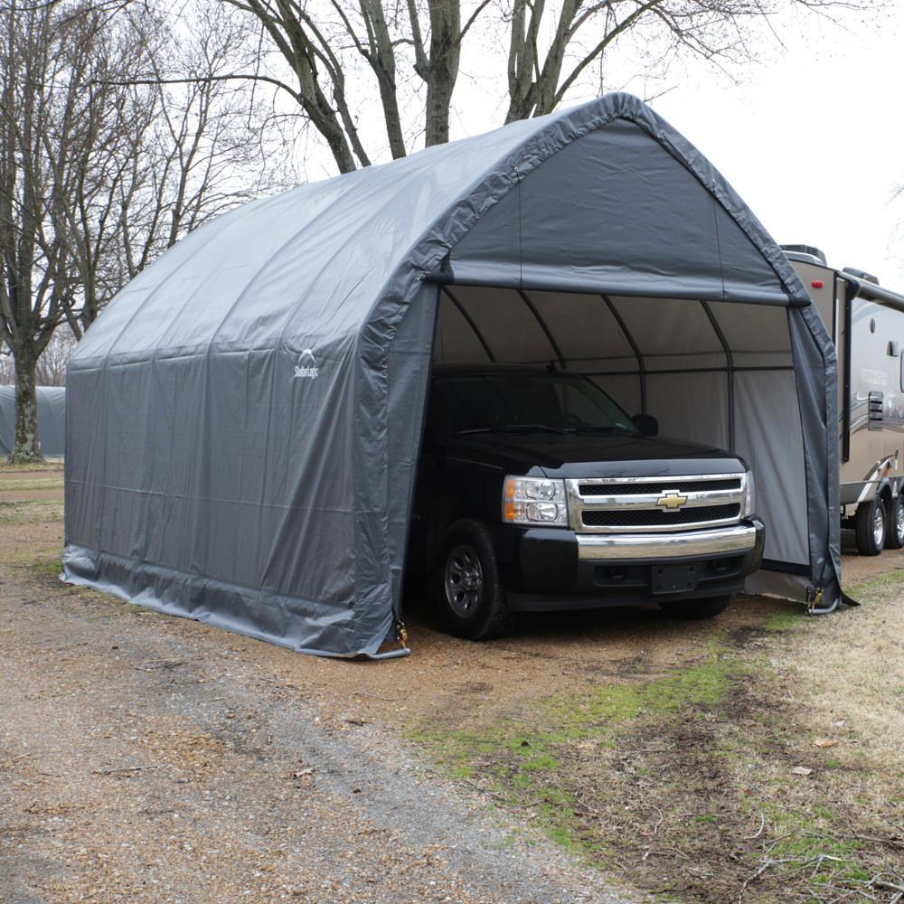 Truck Camping Shelter : Suv truck shelter  grey cover shelterlogic
