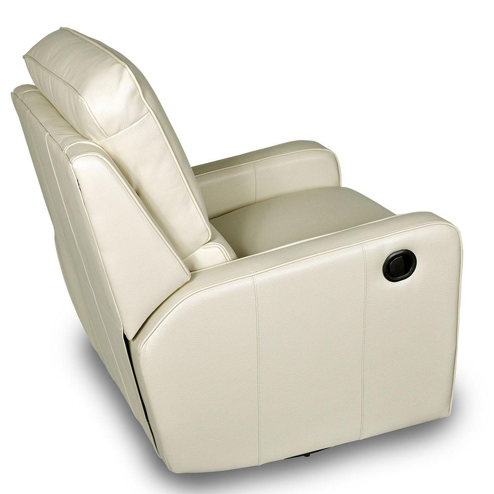 Camping Recliner Chairs Perth Swivel/Rocker Recliner, Cream - Opulence Home 1170 ...
