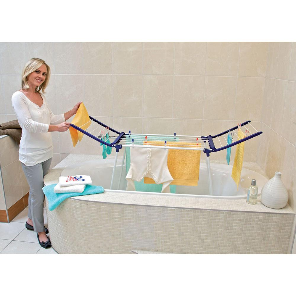 Compact dryer pegasus 120 household 81704 laundry for Etendoir a linge baignoire