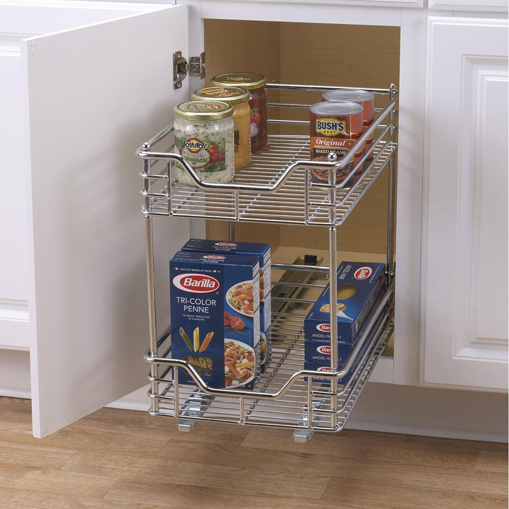 Two Tier Sliding Organizer 11 5 Quot Household C21217 1