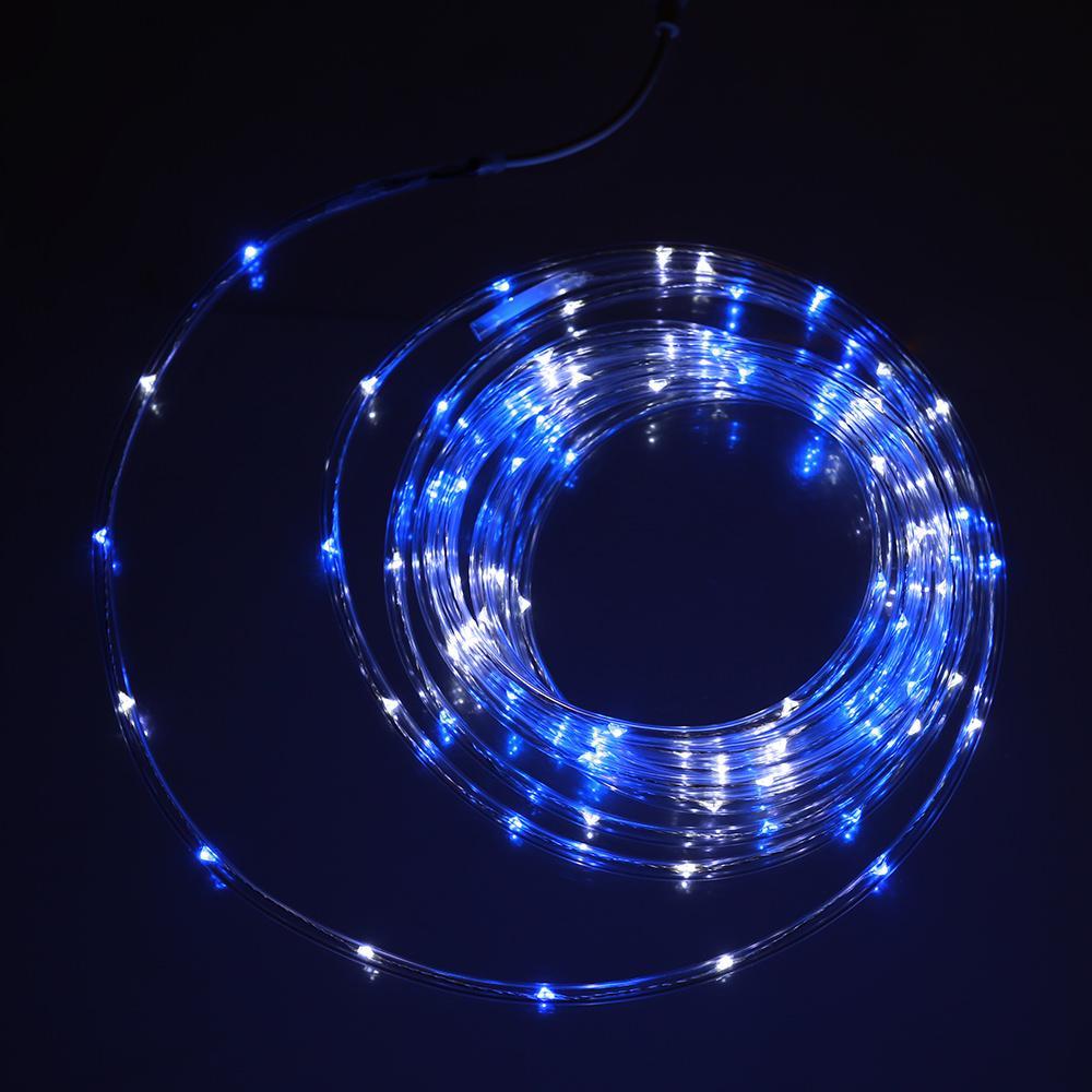 Blue & White Mini Rope Light, 16'