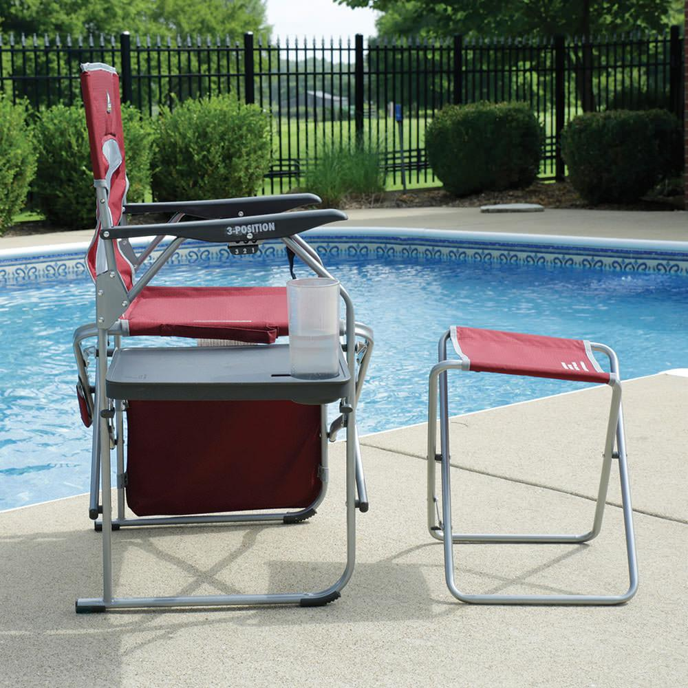 Folding Director's Chair with Ottoman GCI Outdoor Folding Chairs
