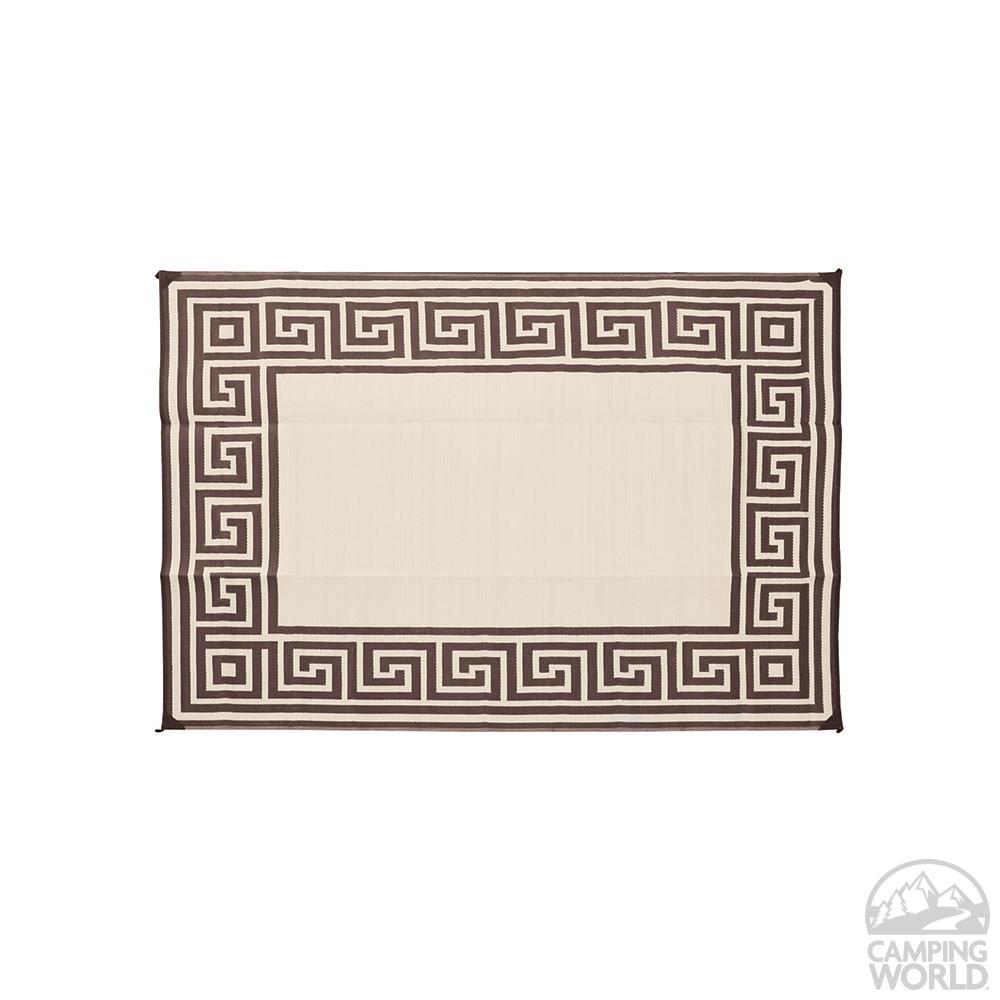 ... Direcsource Ltd Reversible Patio Mat, 9 X 12, Coffe Brown Greek Design  ...