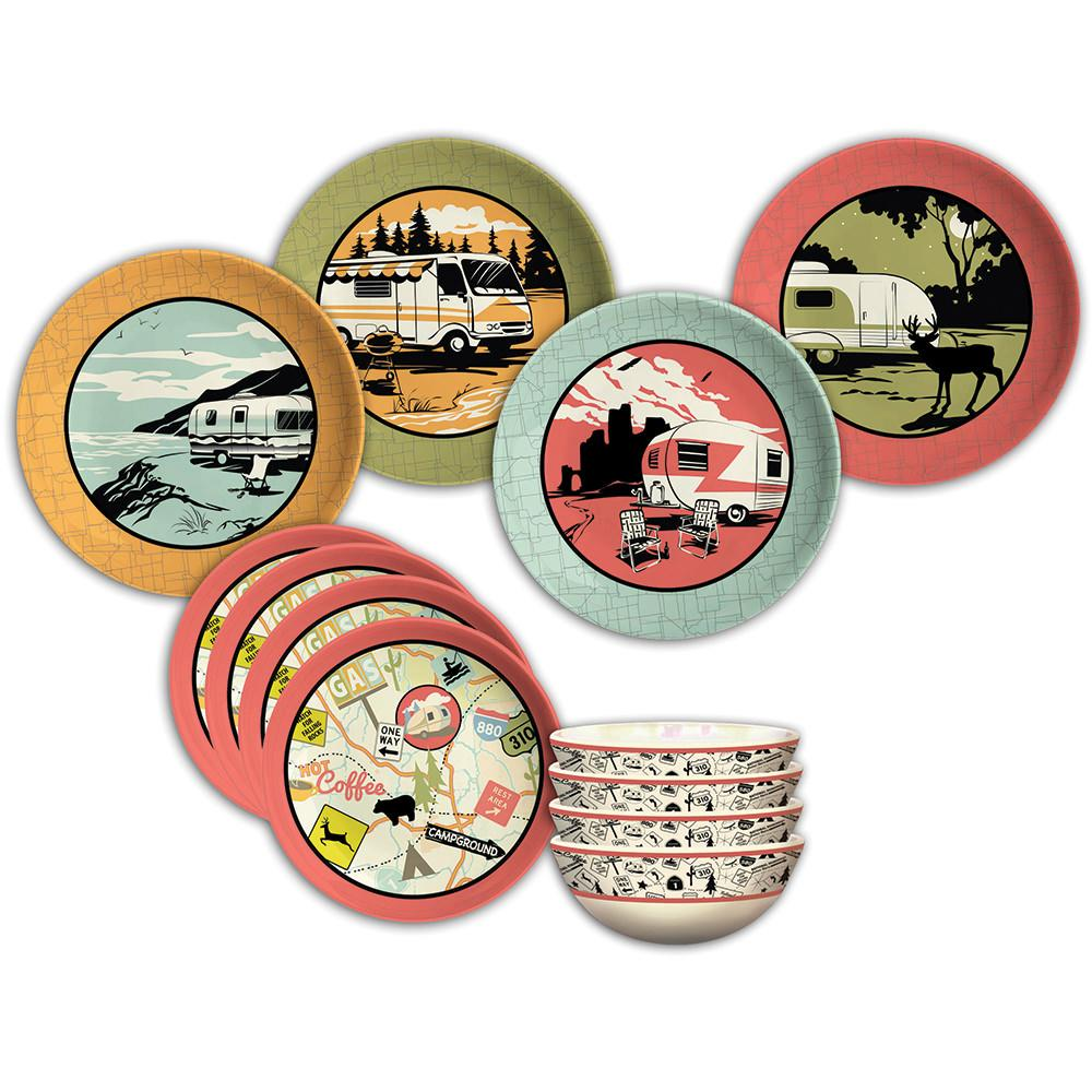 Camp Casual Dish Set - Camp Casual CC-001 - Dinnerware - Camping World