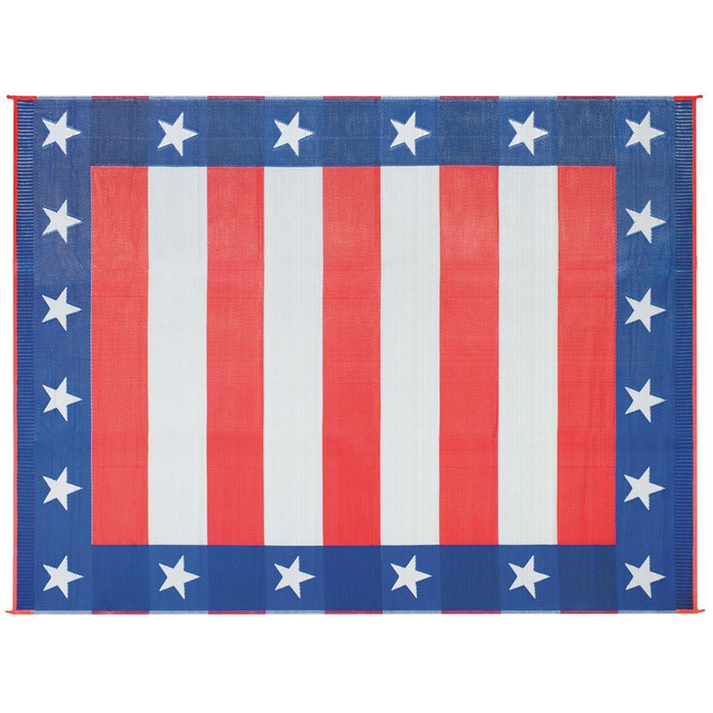 9x12 Independence Day Mat Husky 46503 Patio Mats