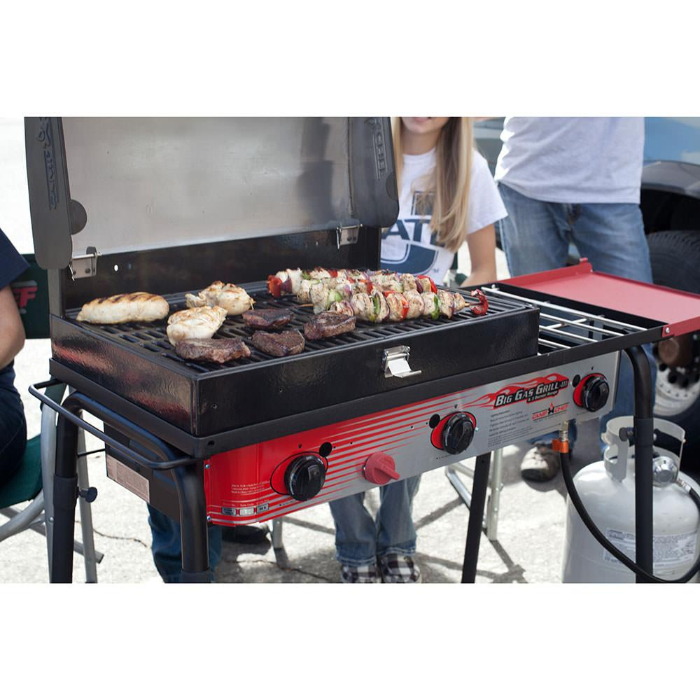Electric Stove With Grill ~ Camp chef gas grill three burner stove spg b