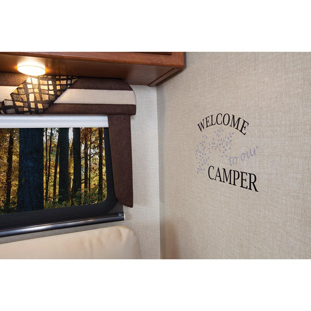 Removable wall decor 39 welcome to our camper 39 brewster for Temporary wall art