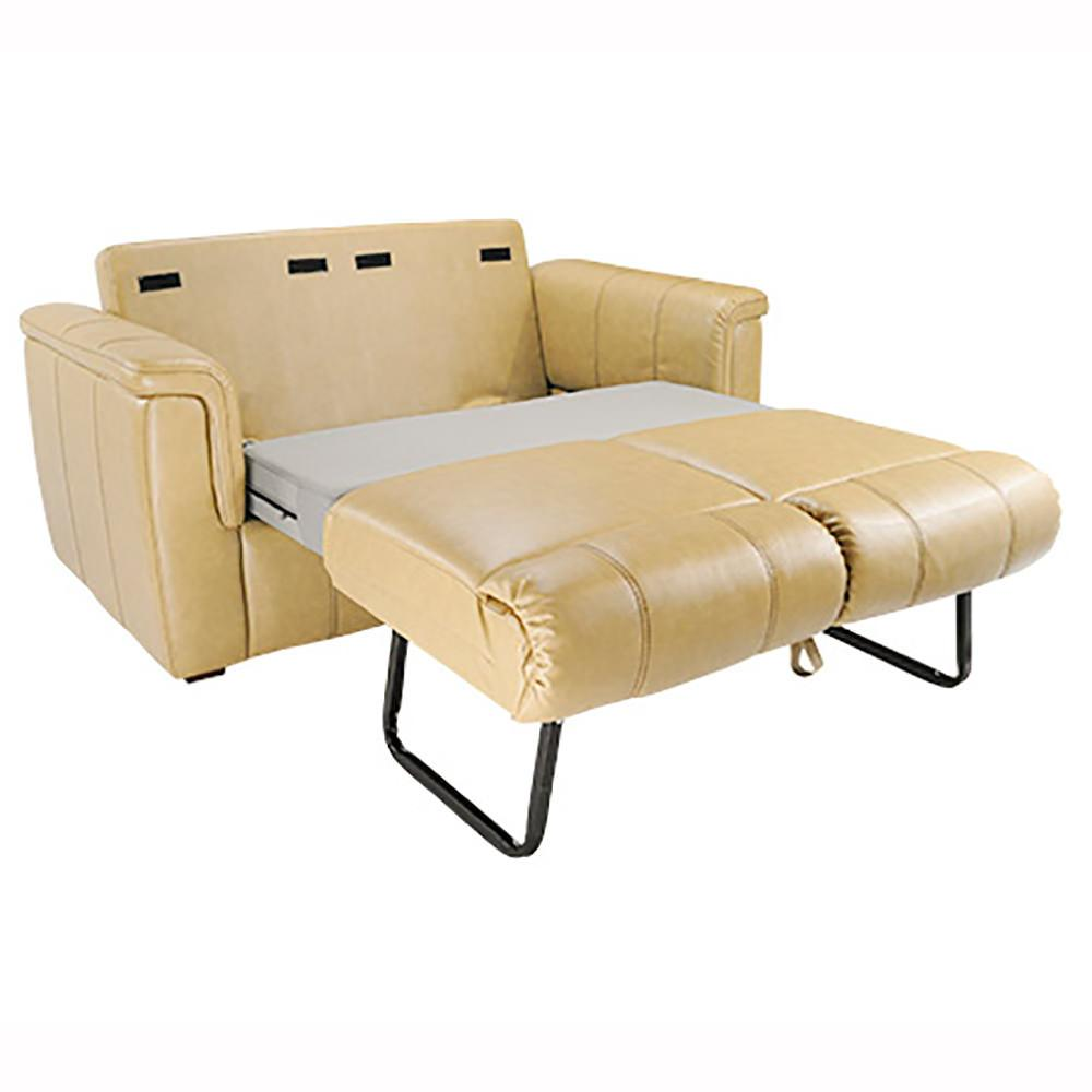 Rochester tri fold sofa 68 beige lippert components inc 350855 furniture camping world - Folding bed with sofa ...