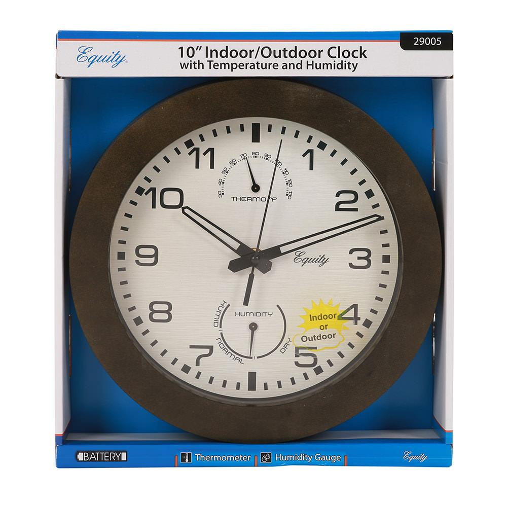 Wall Clock With Thermometer And Humidity 10 La Crosse 29005