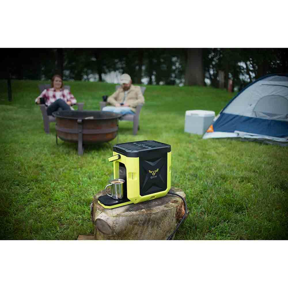 Coffeeboxx Single Serve Camping Coffee Maker in Green - Oxx Llc CB250 - Coffee Makers - Camping ...