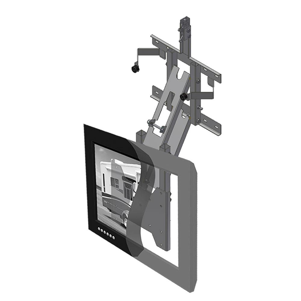 Drop down tv mounts elegant item sku mountmfdx with drop for Motorized flip down tv mount