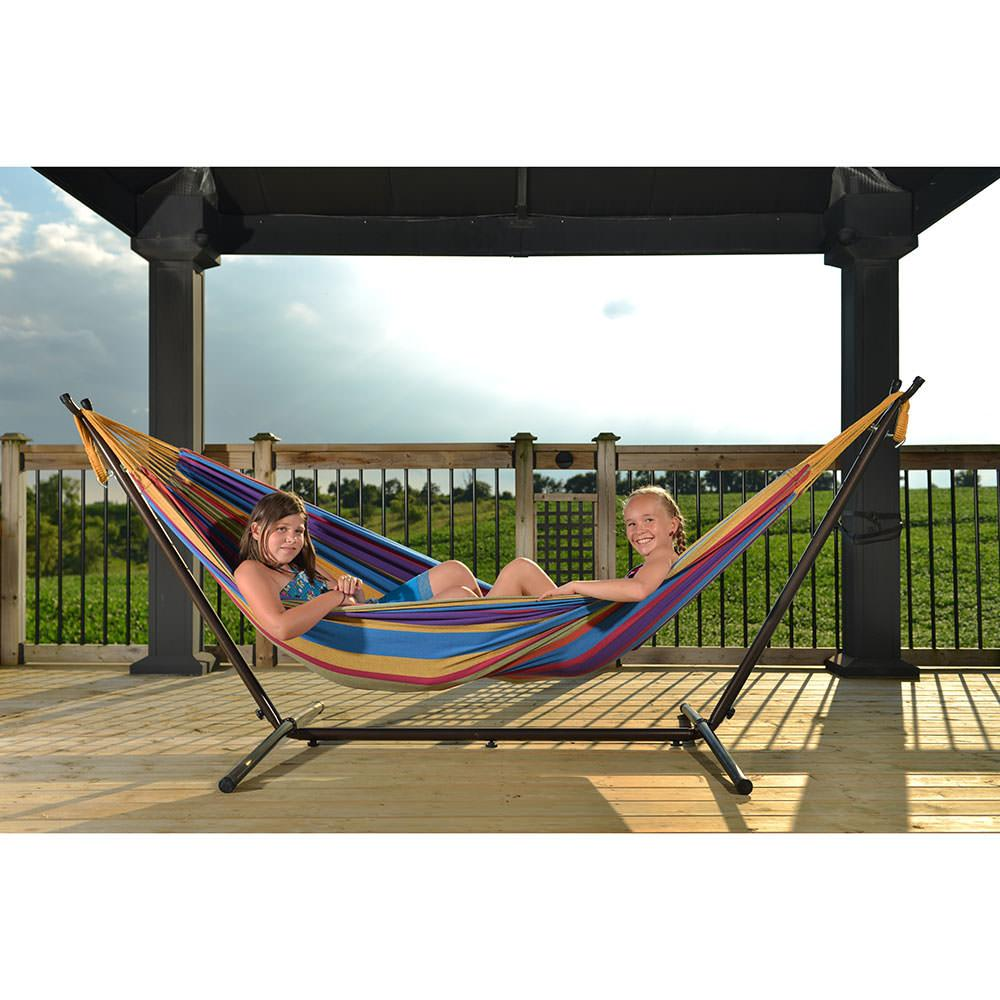 ... Viveres Combo - Double Tropical Hammock with Stand (9ft) ...