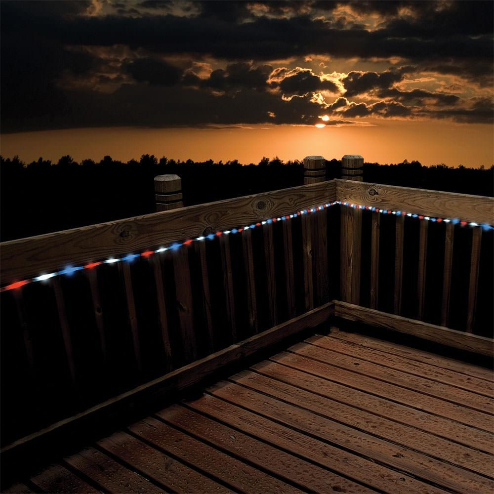 50 Solar Led String Lights Blue : 50 LED Red, White Blue Solar Rope Light, 23 eBay