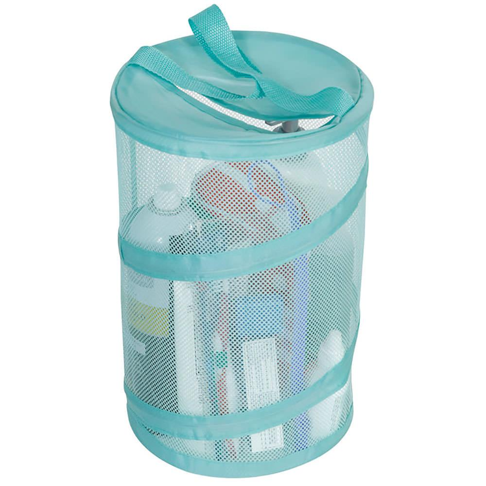 Bath shower caddy teal direcsource ltd 100580 for Teal bathroom accessories