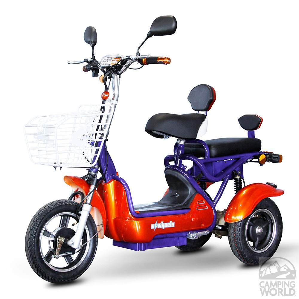 crossover 2 passenger scooter blue orange ewheels jhr. Black Bedroom Furniture Sets. Home Design Ideas