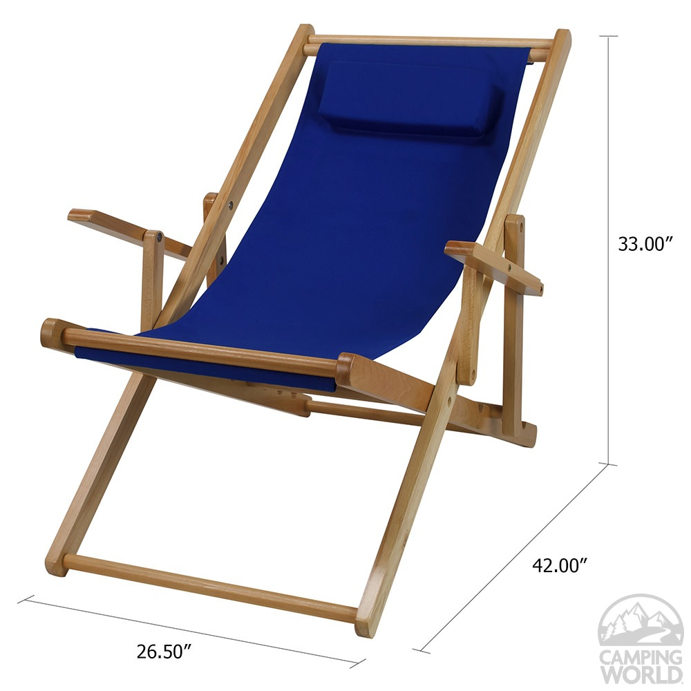 Canvas Patio Sling Chair Blue Yu Shan Co Usa Ltd 114 00