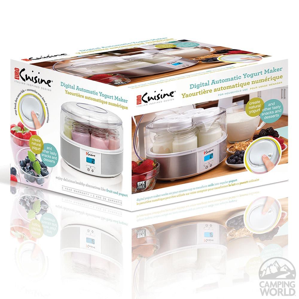 Digital automatic yogurt maker euro cuisine inc ymx650 for Cuisine yogurt maker recipe
