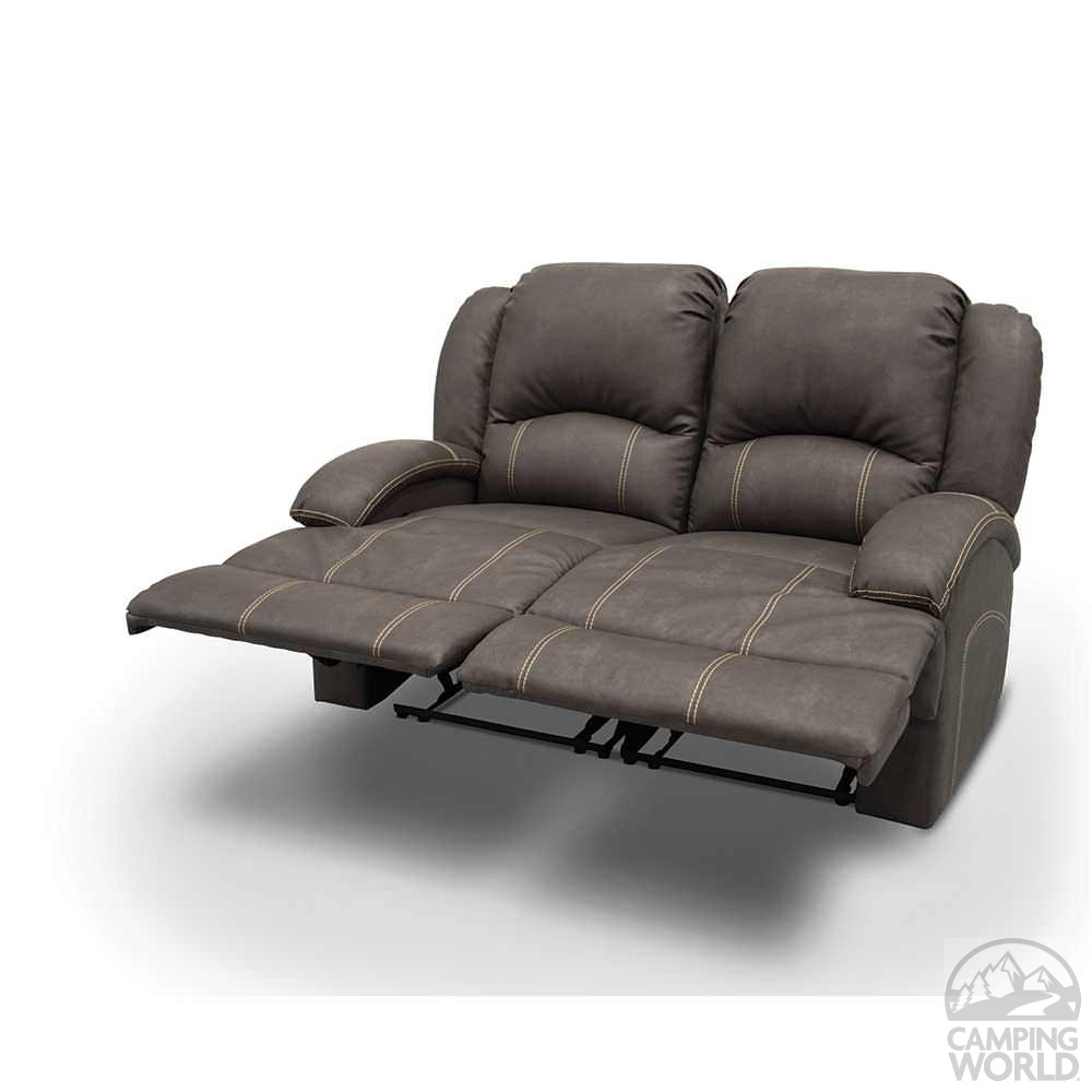 Heritage Left Arm Reclining Sofa Beckham Steel Lippert
