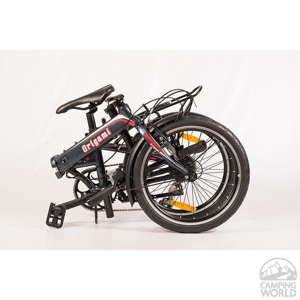 origami crane 8 bike dark gray metallic origami bicycle
