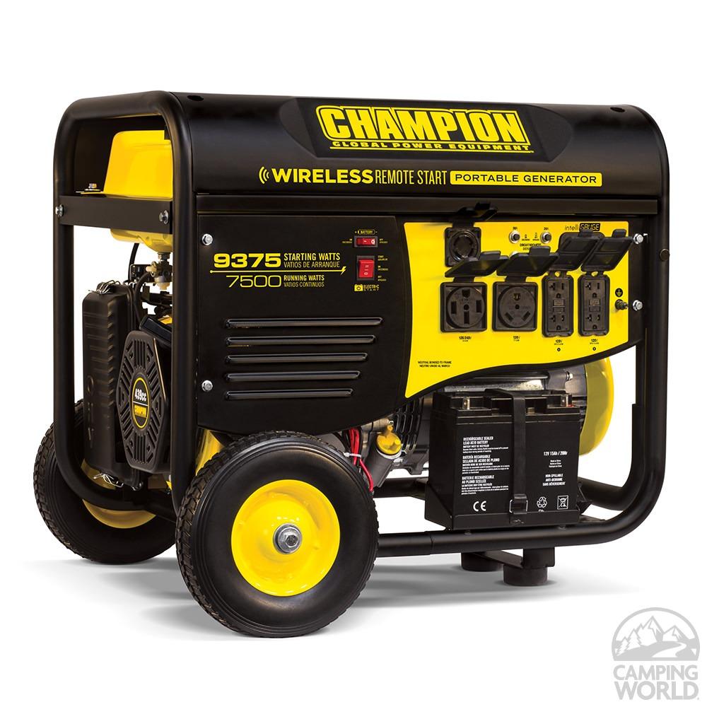 Champion 7500 Watt Rv Ready Portable Generator With
