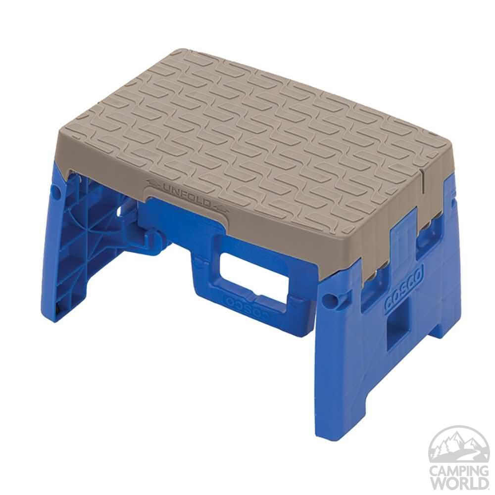 Folding Step Stool; Folding Step Stool ...  sc 1 st  C&ing World & Folding Step Stool - Ameriwood Industries Inc 11903BGR4 - Ladders ... islam-shia.org