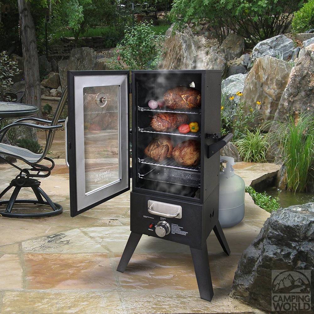 smoke hollow lp gas smoker 36 outdoor leisure products. Black Bedroom Furniture Sets. Home Design Ideas