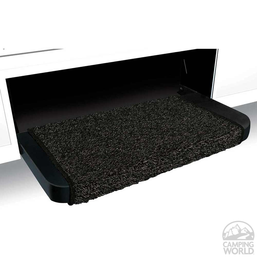 Wraparound Plus Rv Step Rug Black 18 In Prest O Fit
