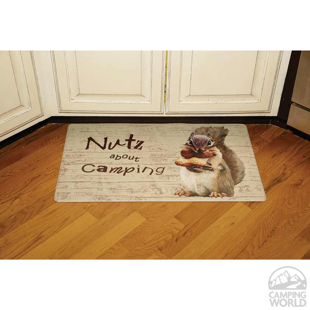 ... Anti Fatigue Kitchen Mat, Nutz About Camping
