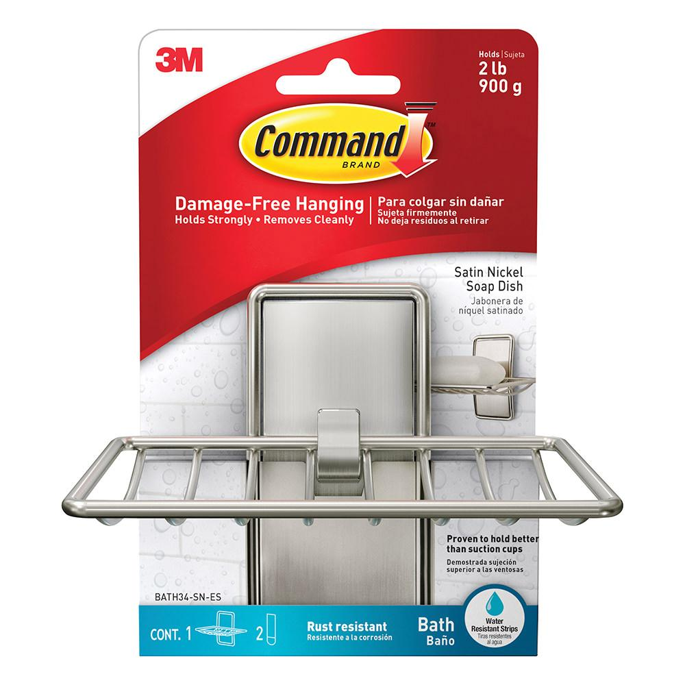 command bath satin nickel soap dish satin nickel 3m. Black Bedroom Furniture Sets. Home Design Ideas