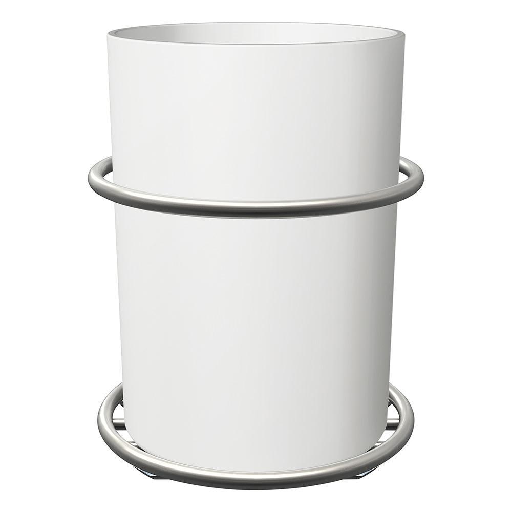 Command bath accessory organizer satin nickel 3m bath38 for Bathroom accessories organizer