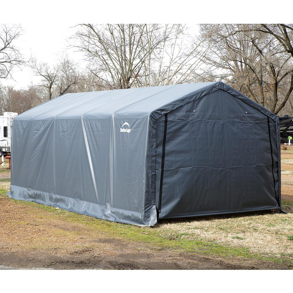 12 X 24 Canopy Amp Peak Style Shelter 12 X 24 X 8 Gray
