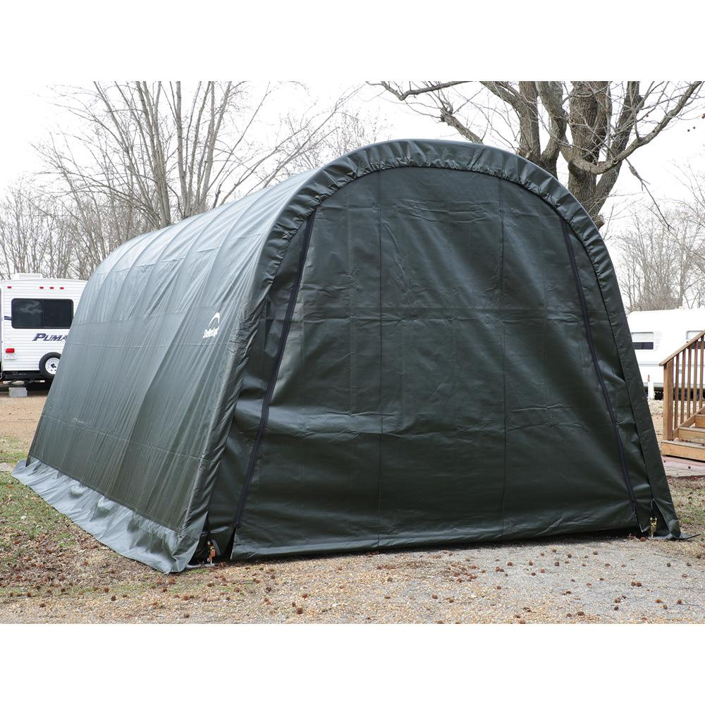 Instant Round Top Shelter : Round style shelter green cover