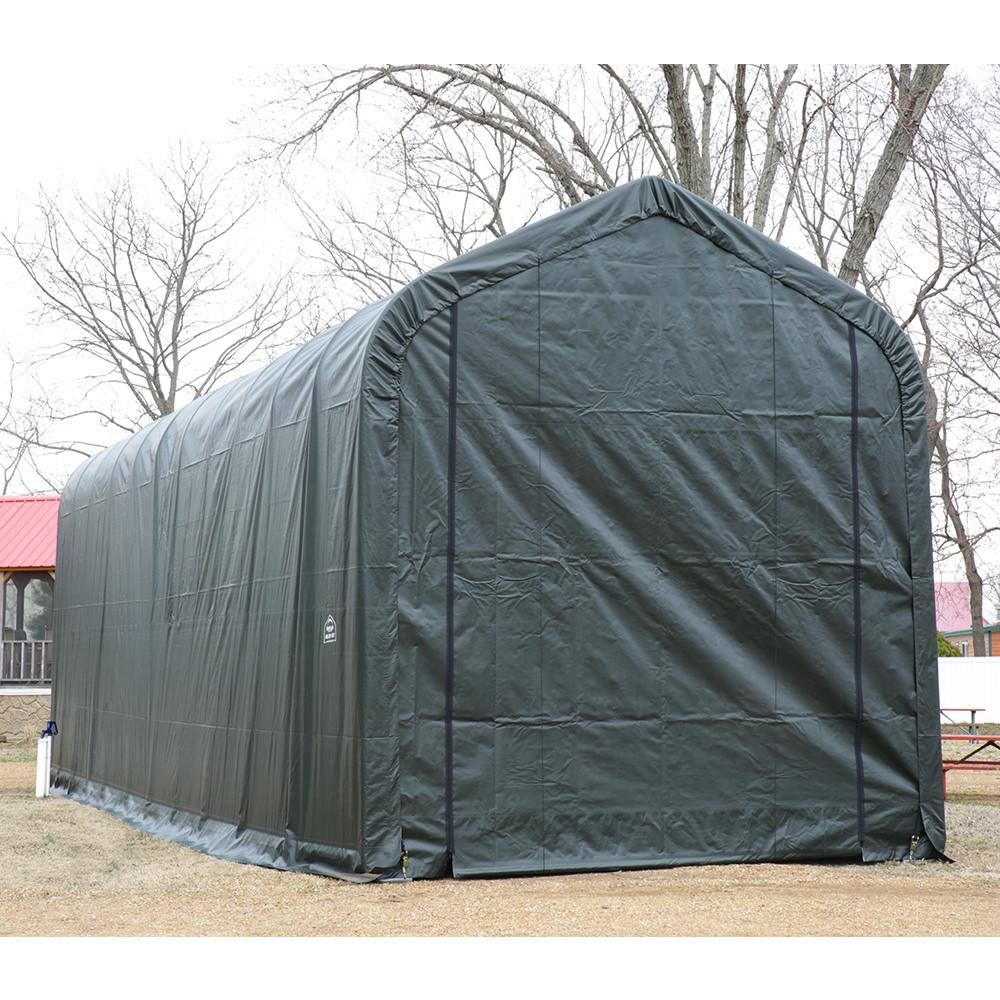 ... Peak Style Shelter 15 x 40 x 16 Green Cover ...  sc 1 st  C&ing World & Peak Style Shelter 15 x 40 x 16 Green Cover - Shelterlogic ...