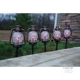 Oil Rubbed Bronze Lantern Stake Lights, Set of 5