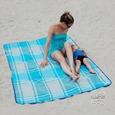 Sand Free Rug, Blue Plaid - 34 x 66