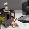 Small Pet Crate End Table, Espresso