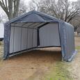 Peak Style Shelter 12 × 20 ×8 Gray Cover