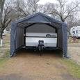 Peak Style Shelter 12 × 16 × 8 Gray Cover