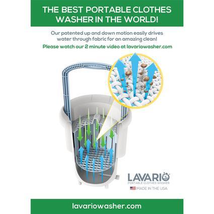 lavario portable clothes washer manual non electric portable